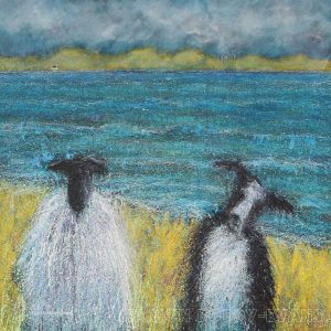 Sheep Dog Painting by Marion Boddy-Evans