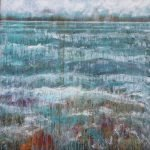 Moods of the Minch: Waves Dance in the Spring Sunshine painting