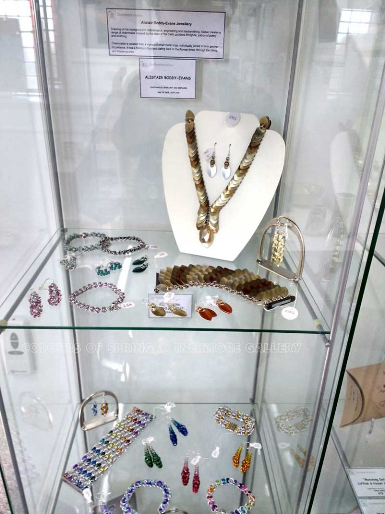 Inchmore-Colours-Spring-Inchmore Colours of Spring Exhibition Chainmail Jewellery by Alistair Boddy-Evans