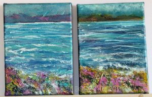 Two Minch Seascape Studies by Marion Boddy-Evans Isle of Skye Scotland Artist