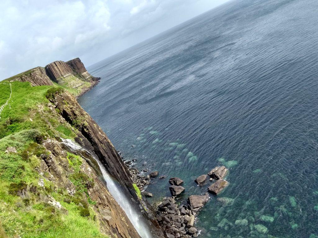 Kilt Rock in Sunshine and Mealt Falls, Isle of Skye