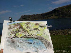 Sketching at Talisker Bay Isle of Skye