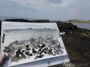 Sketching Camus Mor Isle of Skye