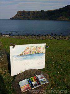 Sketching at Talisker Bay
