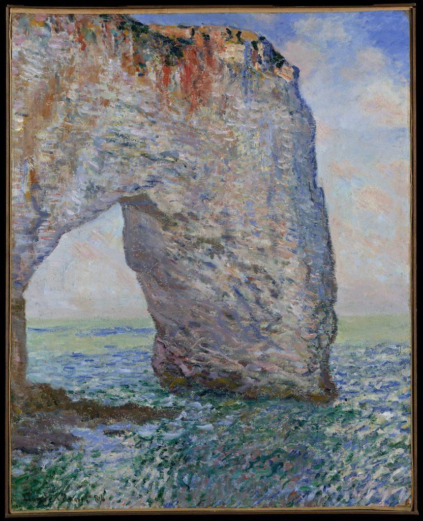 The Manneporte near ?tretat by Claude Monet