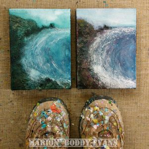 Small Seascape Talisker Bay painting by Marion Boddy-Evans