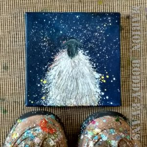 Small Sheep Starry Skye Glitter