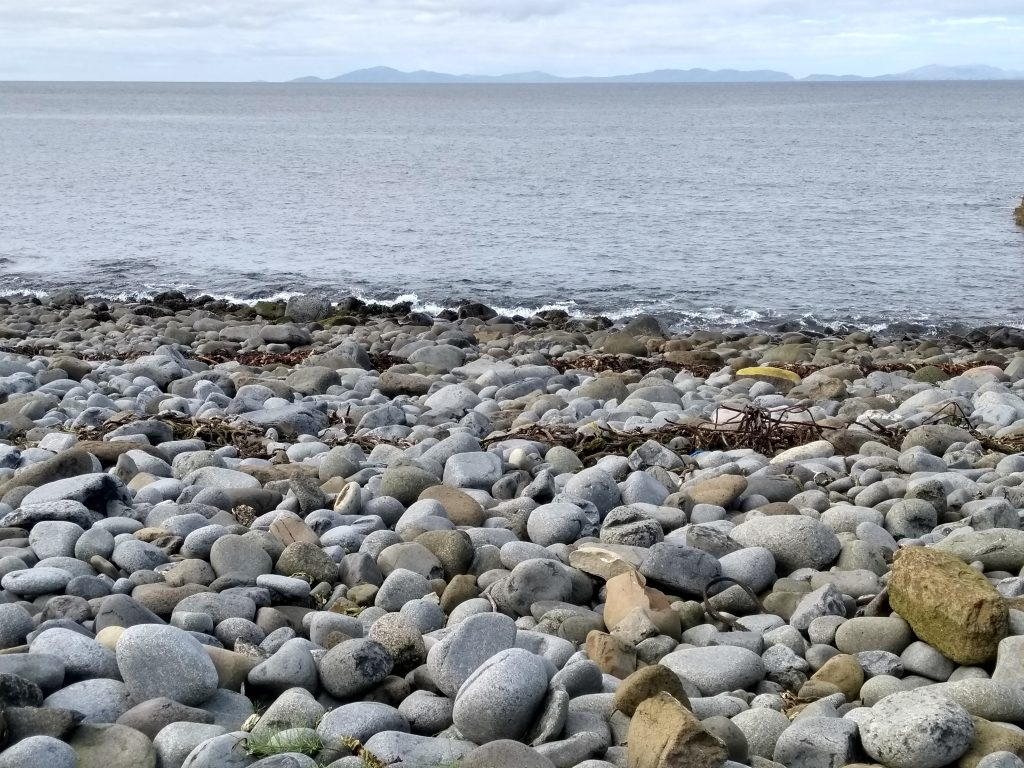 Pebble beach on Skye, Minch sea