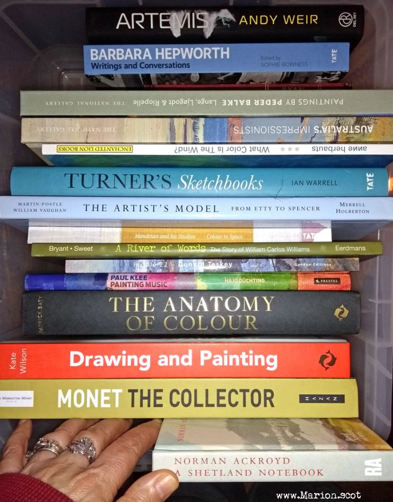 Christmas Art Books 2017 Stack