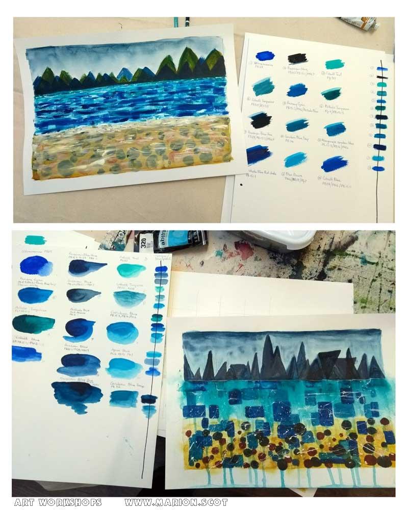 Art Painting Workshops Isle of Skye Scotland with Marion Boddy-Evans