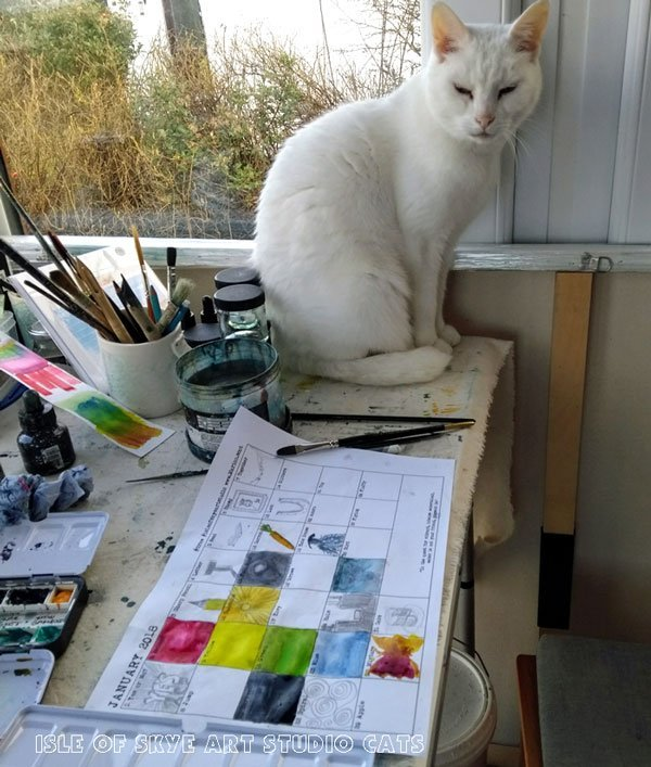 Word Prompts January 2018 Marion Studio Cat