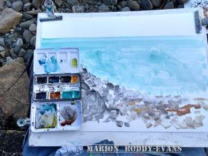 Watercolour seashore