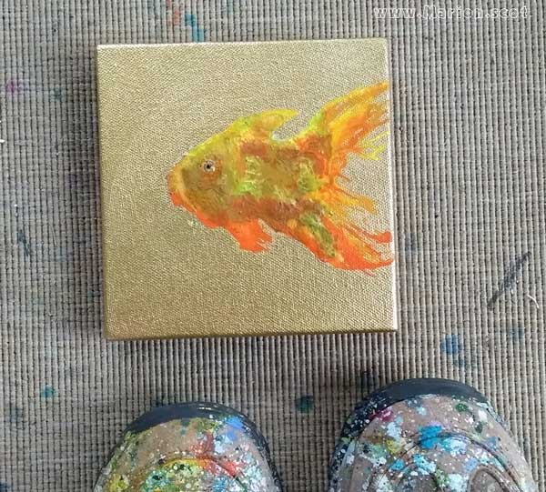 Goldfish on Gold Painting