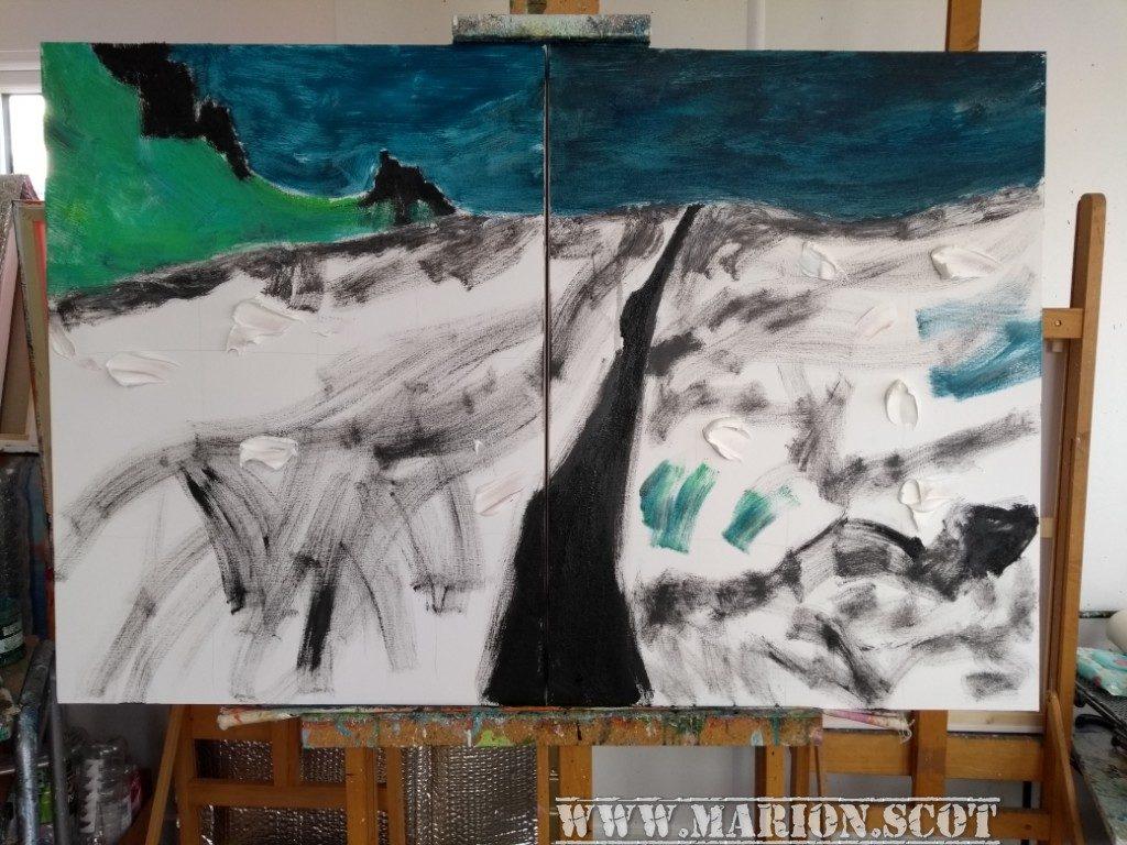 Painting WIP Quairang Lava Paste
