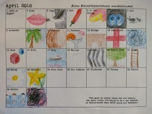 April word prompt chart by Marion