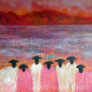 Pinking Sheers Sheep painting
