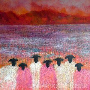 Pinking Sheers Sheep painting