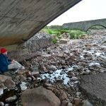 Michael Chelsey Johnson sketching at Sligachan on Skye