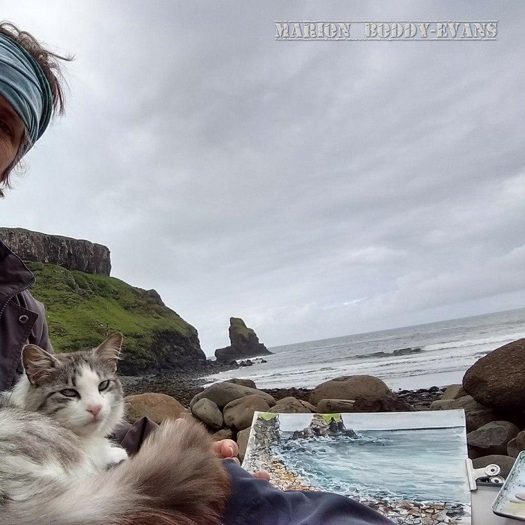 Cat at Talisker Bay Isle of Skye