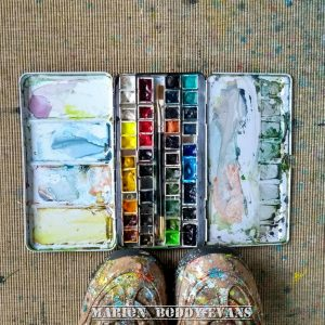big watercolour tin