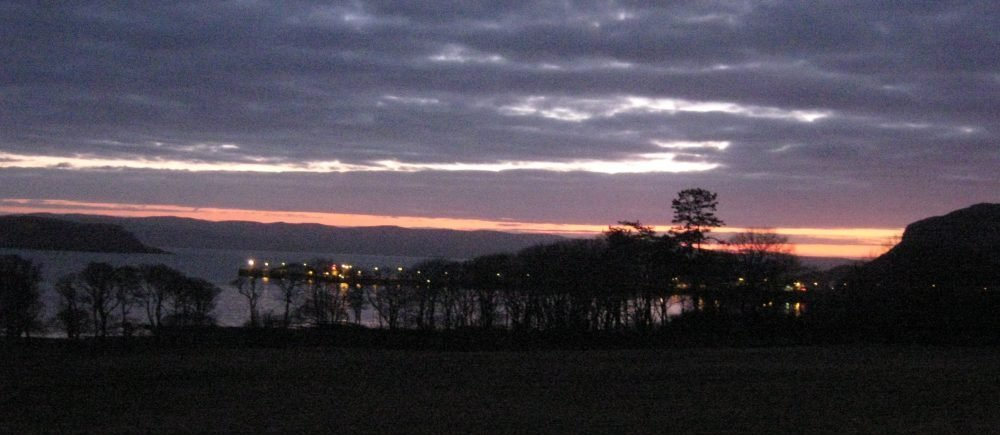 Uig Trees Sunset