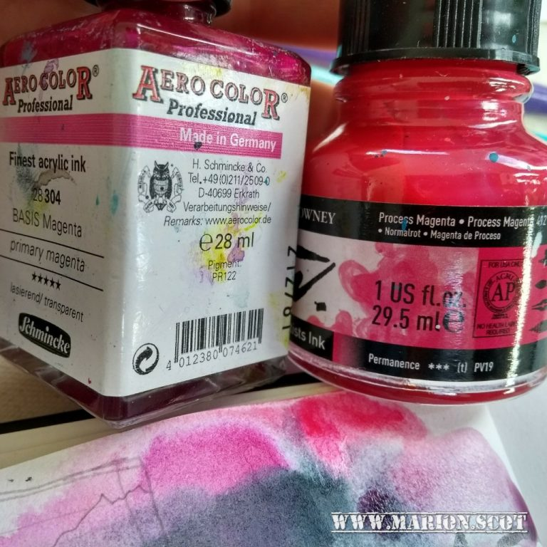 Colour Names vs Pigments Magenta