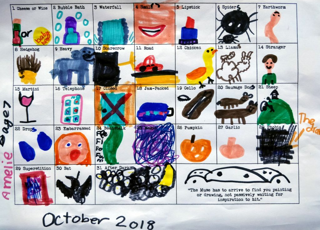 Word Prompt drawing chart by Amelie
