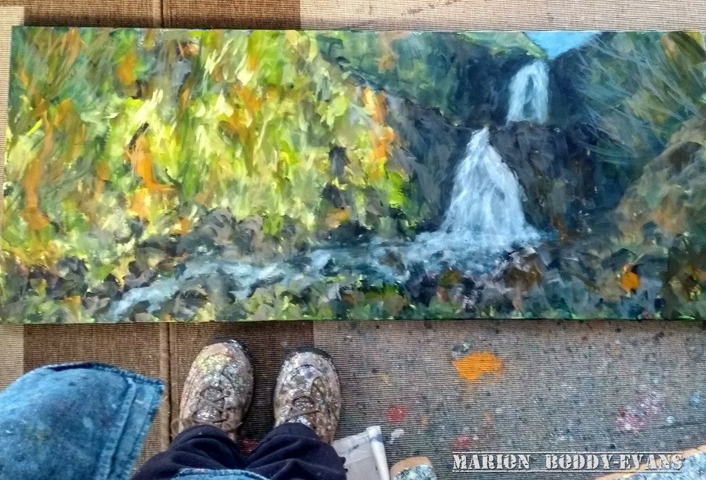 Painting River Rha Waterfall