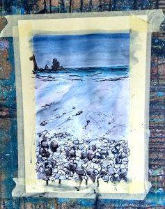 painting demo Talisker Bay