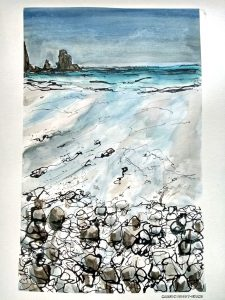 painting demo Talisker Bay