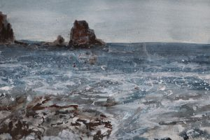 Detail from Talisker bay painting