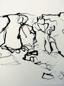 COntinuous line ink drawing Marion Boddy-Evans