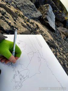 Sketching at Camus Mor Isle of Skye
