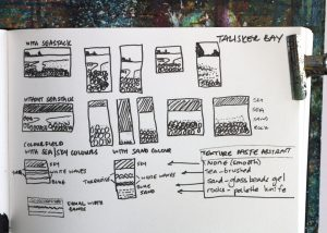 Thumbnails for Talisker Bay painting project