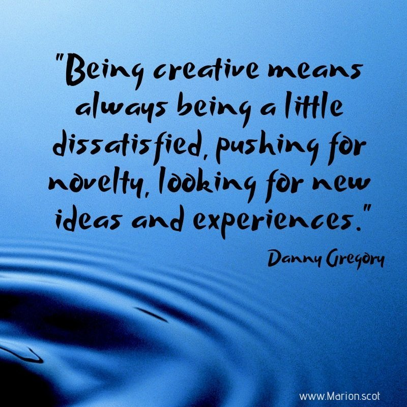 Monday motivator quote from Danny Gregory