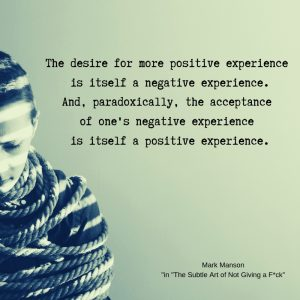 quote positive negative experience