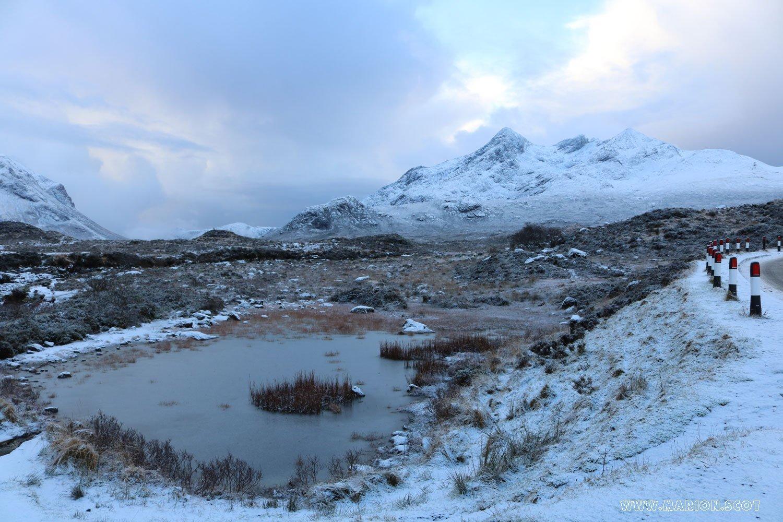 Snow at Sligachan