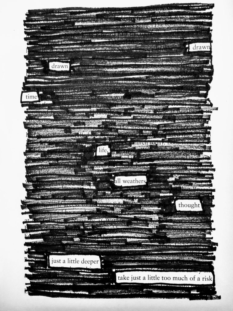 Found Blackout Redacted Poem