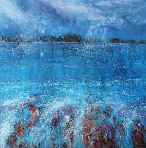 Sunny showers seascape painting