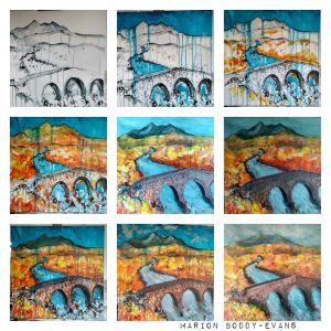 Sligachan bridge painting in progress