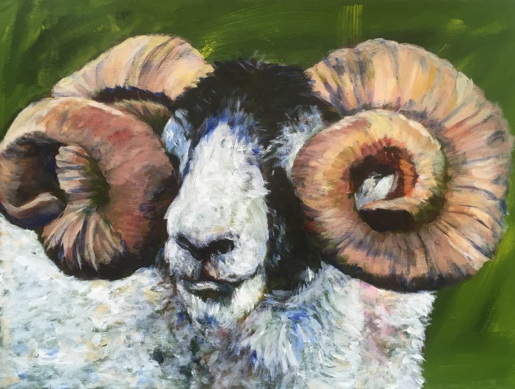 Ram painting project by Lesley