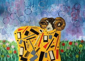 Klimt inspired sheep by Eddie