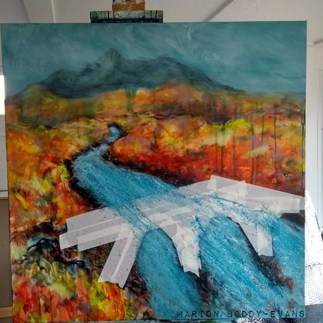 Sligachan bridge painting in progress