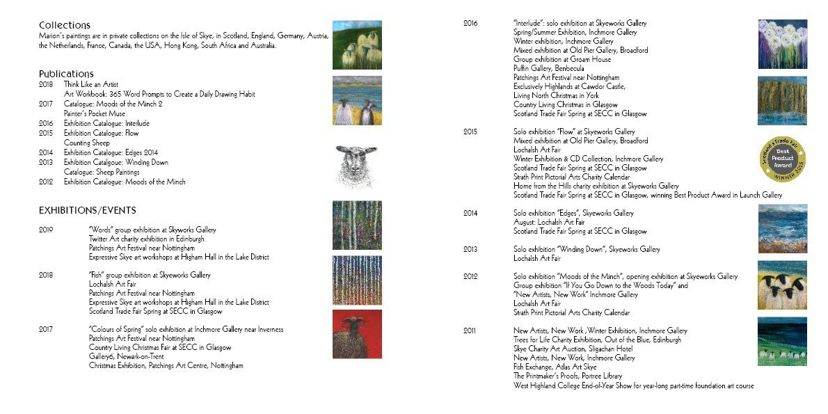 Marion Boddy-Evans exhibition list