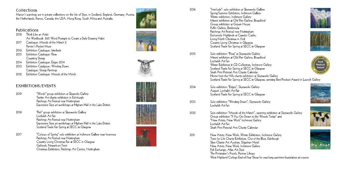Marion Boddy-Evans exhibition list