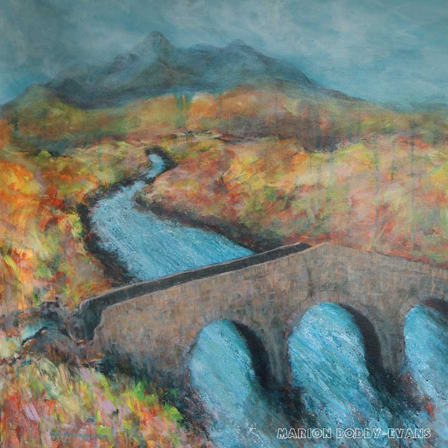 Cuillin Sligachan Bridge painting