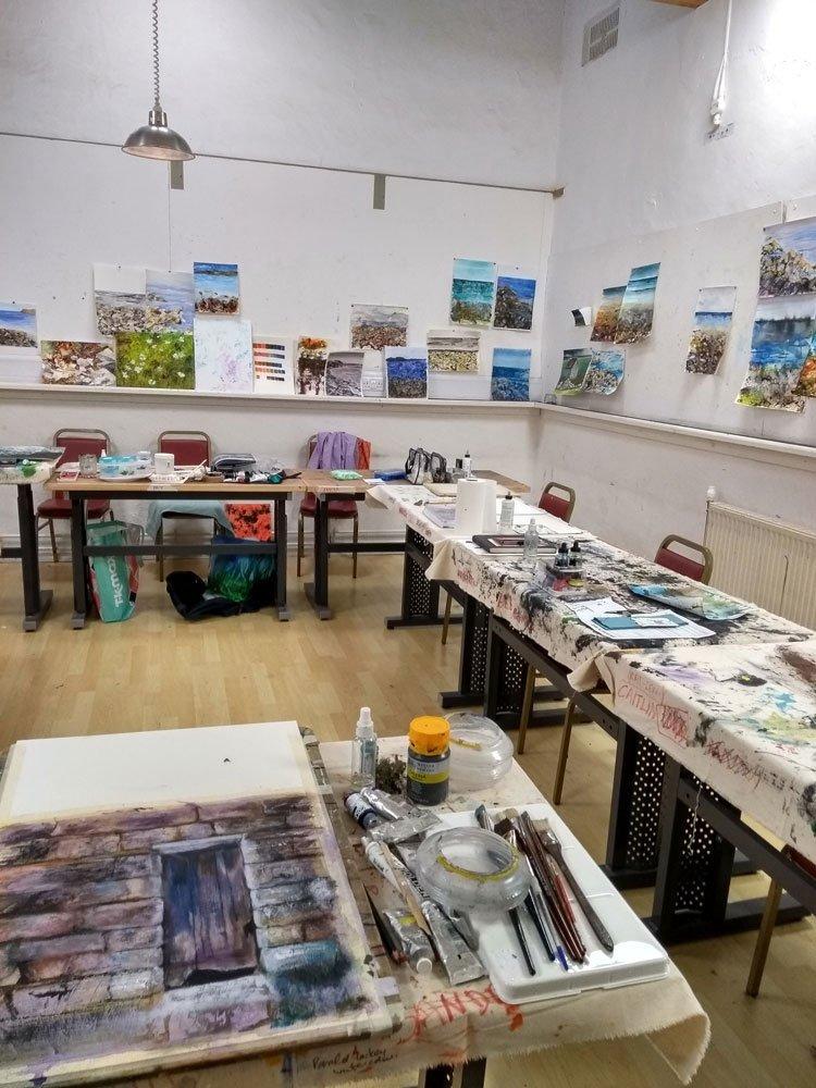 Workshop at Higham Hall by Marion Boddy-Evans
