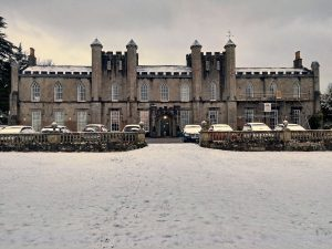 Higham hall in the snow