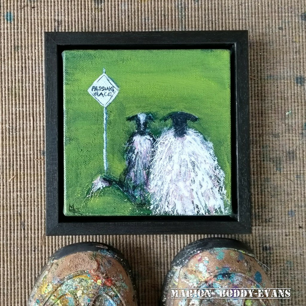 Passing Places Sheep Painting