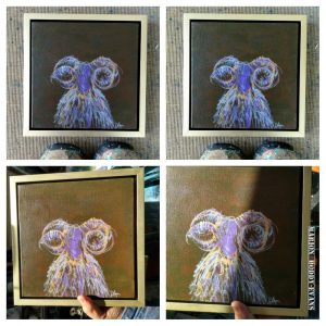 Ram Painting with Line in Different Lights